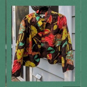 100% silk Coldwater Creek jacket (PXL)